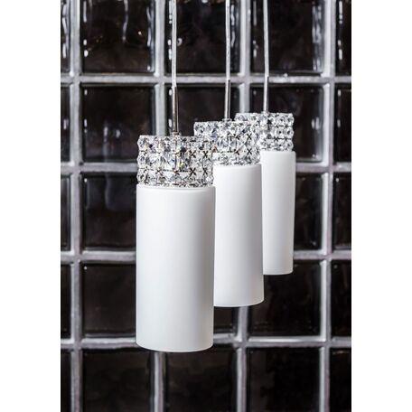 Подвесной светильник Maytoni Collana P077-PL-03-N (F007-33-N), никель, белый, прозрачный, металл, стекло