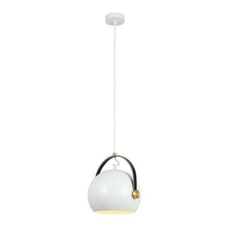 Подвесной светильник Citilux Арагон CL947250, 1xE27x75W, белый, коричневый, кожа/кожзам, металл