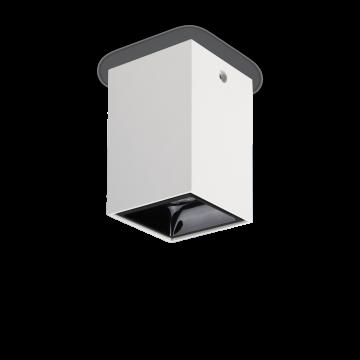 Потолочный светодиодный светильник Ideal Lux NITRO 15W SQUARE BIANCO 206011, LED 15W 3000K 1350lm, белый, черный, металл, пластик