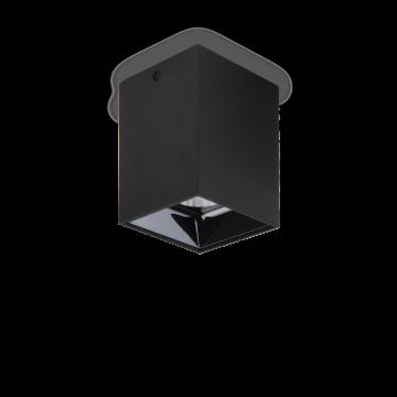 Потолочный светодиодный светильник Ideal Lux NITRO 15W SQUARE NERO 206028, LED 15W 3000K 1350lm, черный, металл, пластик