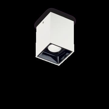 Потолочный светодиодный светильник Ideal Lux NITRO 10W SQUARE BIANCO 206035, LED 10W 3000K 900lm, белый, черный, металл, пластик - миниатюра 1