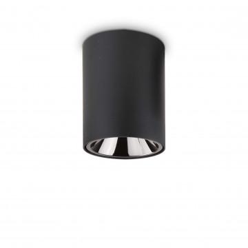 Потолочный светодиодный светильник Ideal Lux NITRO 15W ROUND NERO 205984, LED 15W 3000K 1350lm, черный, металл, металл с пластиком
