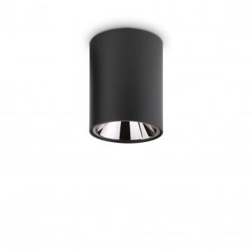 Потолочный светодиодный светильник Ideal Lux NITRO 10W ROUND NERO 206004, LED 10W 3000K 900lm, черный, металл, металл с пластиком