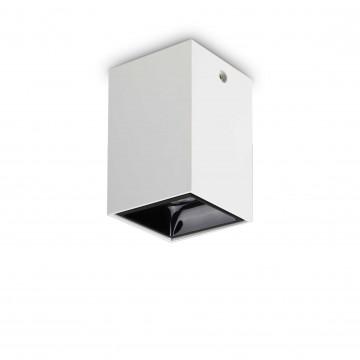 Потолочный светодиодный светильник Ideal Lux NITRO 15W SQUARE BIANCO 206011, LED 15W 3000K 1350lm, белый, черно-белый, металл, металл с пластиком