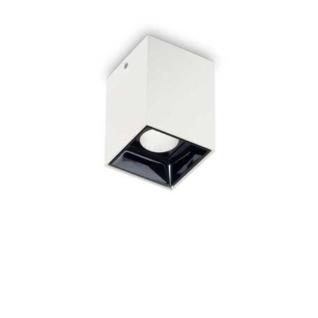 Потолочный светодиодный светильник Ideal Lux NITRO 10W SQUARE BIANCO 206035, LED 10W 3000K 900lm, белый, черно-белый, металл, металл с пластиком - миниатюра 1