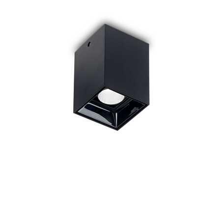 Потолочный светодиодный светильник Ideal Lux NITRO 10W SQUARE NERO 206042, LED 10W 3000K 900lm, черный, металл, металл с пластиком