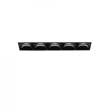 Встраиваемый светодиодный светильник Ideal Lux LIKA 10W TRIMLESS 206226 (LIKA FI5 TRIMLESS), LED 10W 3000K 1100lm, черный, металл