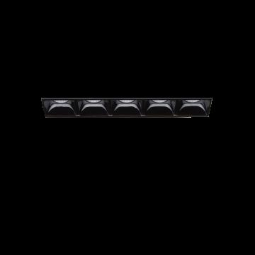 Встраиваемый светодиодный светильник Ideal Lux LIKA FI5 TRIMLESS 206226, LED 10W 3000K 1100lm, черный, металл