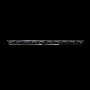 Встраиваемый светодиодный светильник Ideal Lux LIKA FI10 TRIMLESS 206240, LED 20W 3000K 2200lm, черный, металл