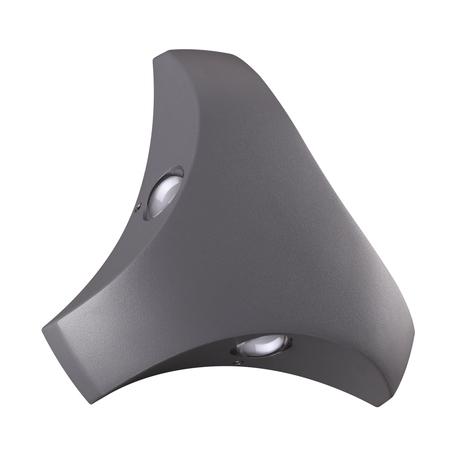 Настенный светодиодный светильник Novotech Calle 358462, IP54, LED 3W 4000K 240lm, серый, металл