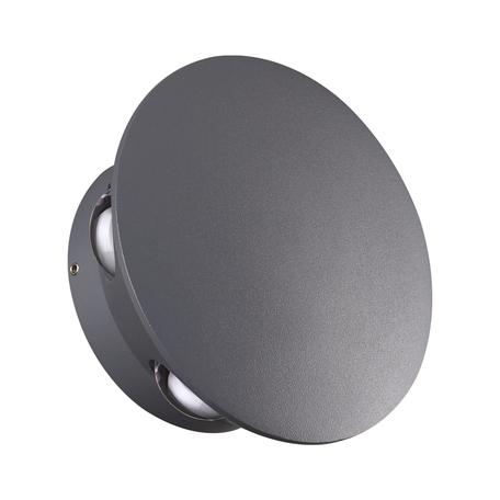 Настенный светодиодный светильник Novotech Street Calle 358463, IP54, LED 6W 4000K 480lm, серый, металл