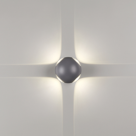 Настенный светодиодный светильник Novotech Street Calle 358464, IP54, LED 12W 4000K 960lm, серый, металл