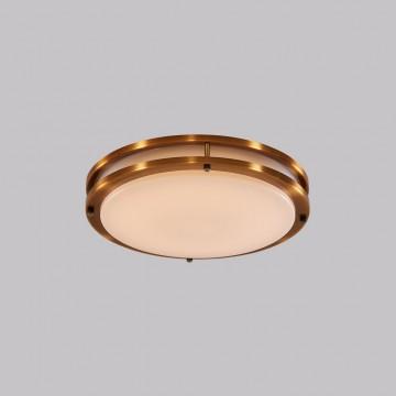 Потолочный светодиодный светильник Citilux Бостон CL709253, IP44, LED 25W 3000K 1800lm, бронза, белый, металл, пластик - миниатюра 2