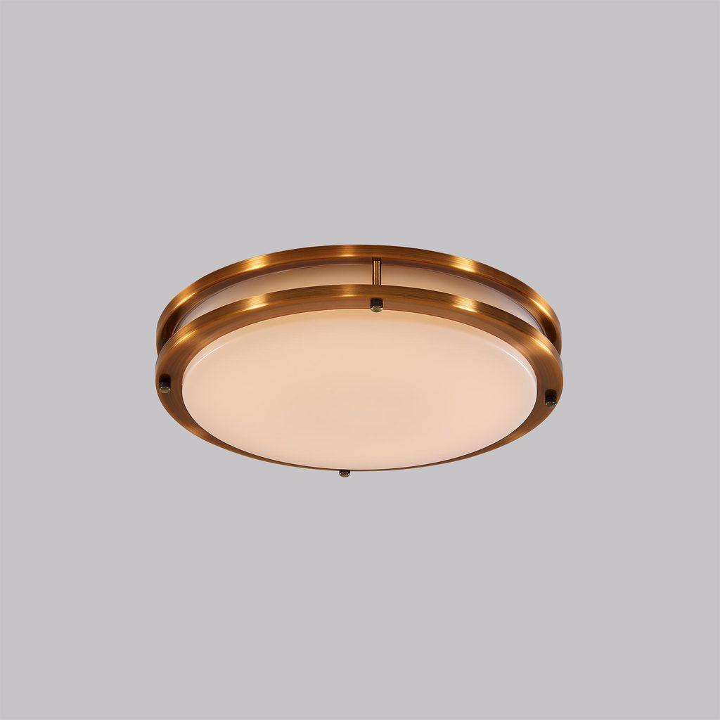 Потолочный светодиодный светильник Citilux Бостон CL709253, IP44, LED 25W 3000K 1800lm, бронза, белый, металл, пластик - фото 2