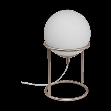 Настольная лампа Eglo Castellato 1 97332, 1xE27x28W, бежевый, белый, металл, стекло