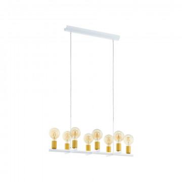 Подвесной светильник Eglo Adri 2 97448, 8xE27x60W, матовое золото, металл