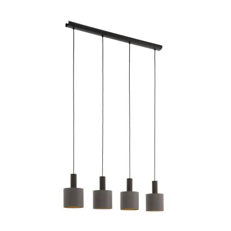 Подвесной светильник Eglo Concessa 1 97685, 4xE27x60W, коричневый, металл, текстиль