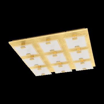 Потолочная светодиодная люстра Eglo Vicaro 1 97729, LED 22,5W, золото, матовый, металл, стекло