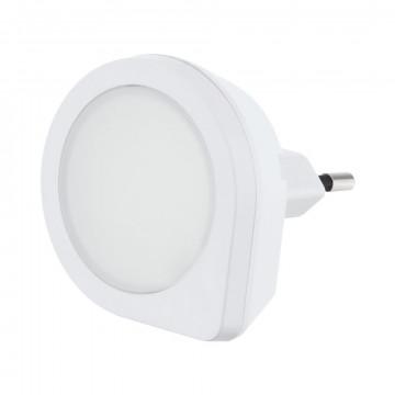 Штекерный светодиодный светильник-ночник Eglo Tineo 97932, LED 0,4W 3000K 2lm, белый, пластик