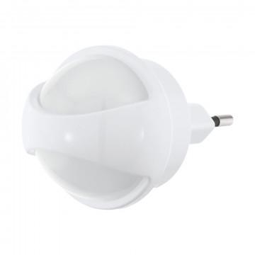 Штекерный светодиодный светильник-ночник Eglo Tineo 97933, LED 0,26W 3000K 3lm, белый, пластик