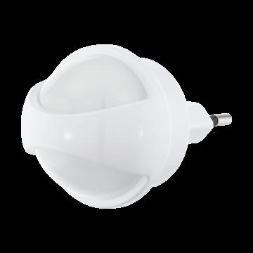 Штекерный светодиодный светильник-ночник Eglo Tineo 97933, 3000K (теплый), белый, пластик