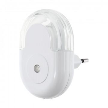 Штекерный светодиодный светильник-ночник Eglo Tineo 97935, LED 0,3W 3000K 5lm, белый, пластик
