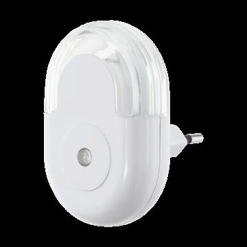 Штекерный светодиодный светильник-ночник Eglo Tineo 97935, 3000K (теплый), белый, пластик
