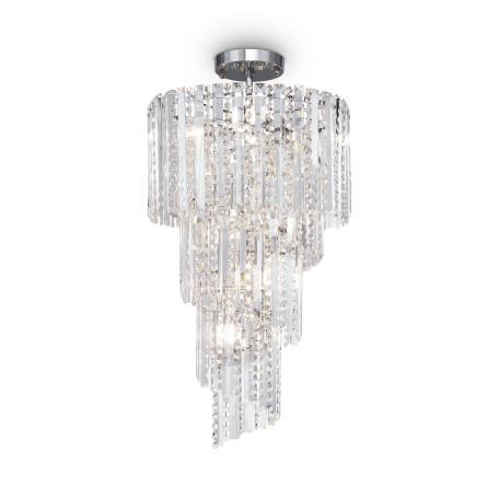 Светильник Maytoni Louis RC002PL-12CH, 12xE14x40W, хром, прозрачный, металл, стекло, хрусталь