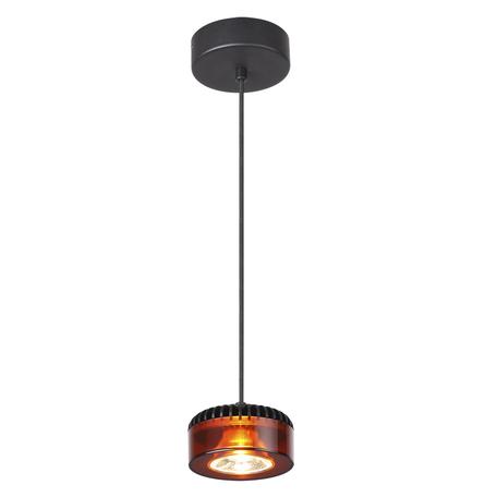 Подвесной светодиодный светильник Odeon Light Vivace 3818/10L, LED 10W, 3500K (дневной), черный, янтарь, металл, стекло
