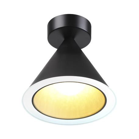 Потолочный светодиодный светильник Odeon Light L-Vision Taper 3838/15CL, LED 12W 3000K + 6500K 1900lm, черный, черно-белый, металл