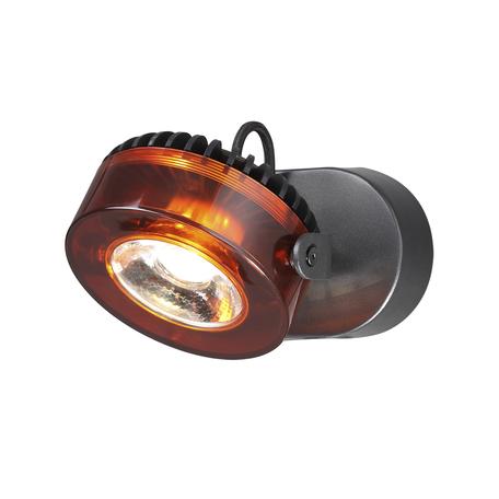 Потолочный светодиодный светильник с регулировкой направления света Odeon Light Vivace 3818/10WL, LED 10W, 3500K (дневной), черный, янтарь, металл, стекло