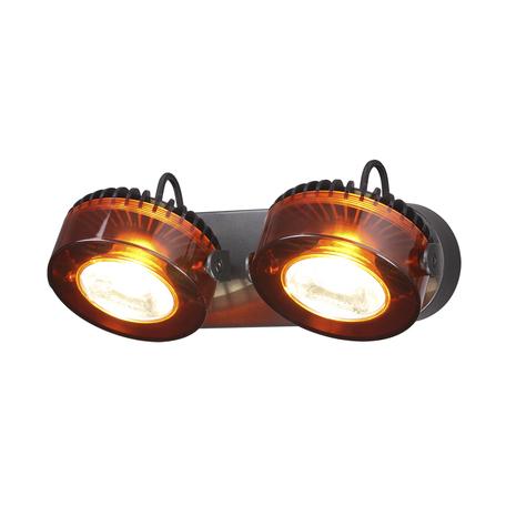 Потолочный светодиодный светильник с регулировкой направления света Odeon Light Vivace 3818/20WL, LED 20W, 3500K (дневной), черный, янтарь, металл, стекло