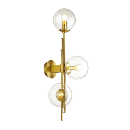 Бра Odeon Light Pendant Brazeri 4799/3W, 3xE14x60W, бронза, прозрачный, металл, стекло