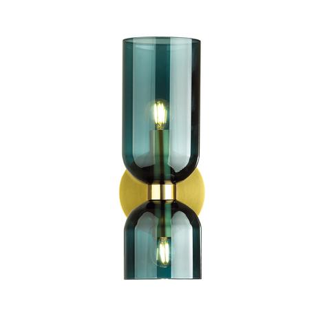 Бра Odeon Light Midcent Orinoco 4803/2W, 2xE14x60W, бронза, зеленый, металл, стекло