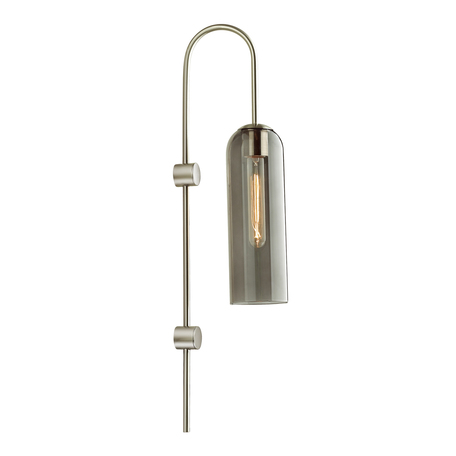 Бра Odeon Light Pendant Vosti 4805/1W, 1xE27x60W, никель, дымчатый, металл, стекло