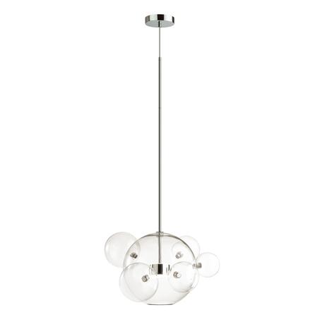 Подвесной светодиодный светильник Odeon Light L-Vision Bubbles 4802/12LB, LED 12W 4000K 700lm, хром, прозрачный, металл, стекло