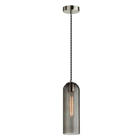 Подвесной светильник Odeon Light Pendant Vosti 4805/1, 1xE27x60W, никель, дымчатый, металл, стекло