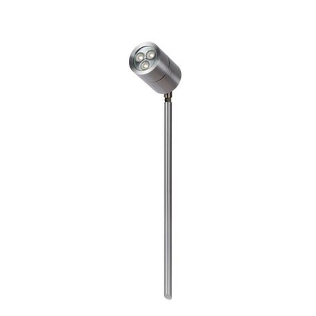 Светодиодный прожектор с колышком Lucide Dock 10874/21/12, IP44, LED 3W 4500K 300lm, сталь, металл