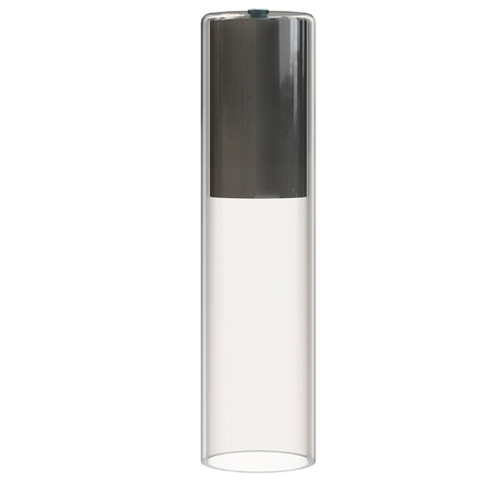 Плафон Nowodvorski Cameleon Cylinder M 8541, черный, прозрачный, стекло