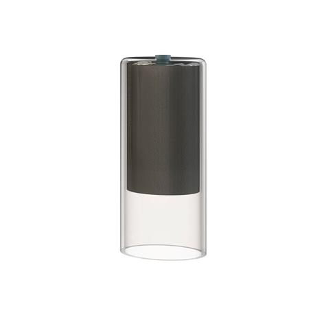 Плафон Nowodvorski Cameleon Cylinder S 8544, черный, прозрачный, стекло