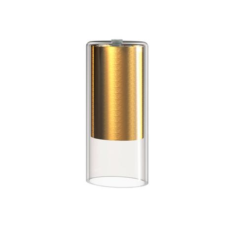 Плафон Nowodvorski Cameleon Cylinder S 8546, золото, прозрачный, стекло