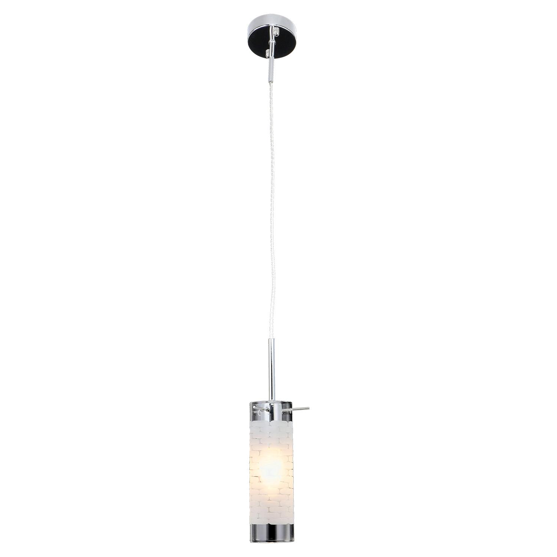 Подвесной светильник Lussole LGO Leinell LSP-9548, IP21, 1xE14x40W, хром, белый, металл, стекло - фото 1