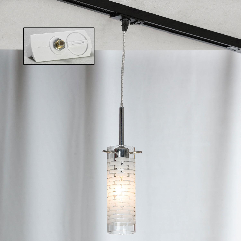 Подвесной светильник Lussole LGO Leinell LSP-9548, IP21, 1xE14x40W, хром, белый, металл, стекло - фото 3