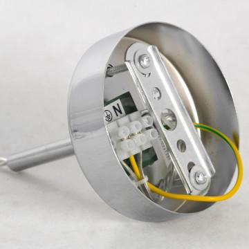 Подвесной светильник Lussole LGO Leinell LSP-9548, IP21, 1xE14x40W, хром, белый, металл, стекло - миниатюра 6