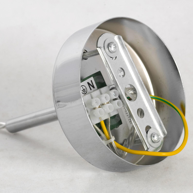 Подвесной светильник Lussole LGO Leinell LSP-9548, IP21, 1xE14x40W, хром, белый, металл, стекло - фото 6