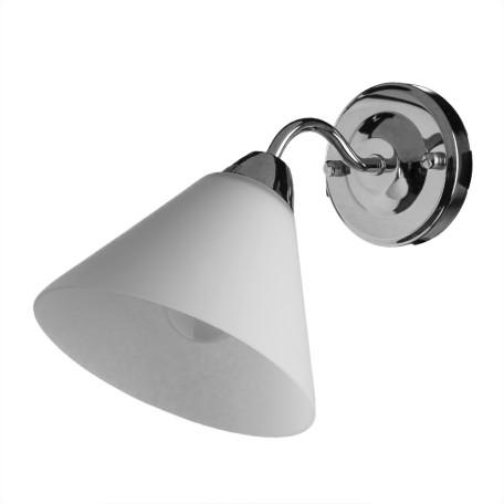 Бра Arte Lamp Federica A1298AP-1CC, 1xE14x40W, хром, белый, металл, стекло