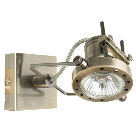 Настенный светильник с регулировкой направления света Arte Lamp Costruttore A4300AP-1AB, 1xGU10x50W, бронза, металл