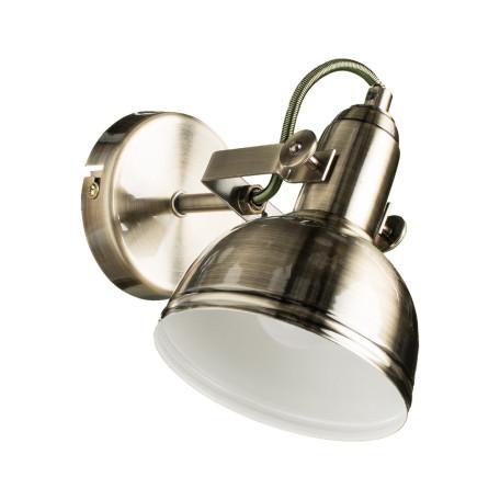 Настенный светильник с регулировкой направления света Arte Lamp Martin A5213AP-1AB, 1xE14x40W, бронза, металл