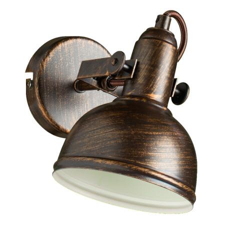 Настенный светильник с регулировкой направления света Arte Lamp Martin A5213AP-1BR, 1xE14x40W, коричневый с золотой патиной, металл