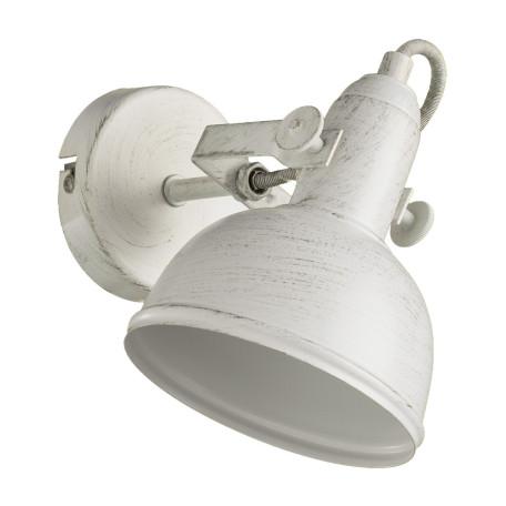 Настенный светильник с регулировкой направления света Arte Lamp Martin A5213AP-1WG, 1xE14x40W, белый с золотой патиной, металл